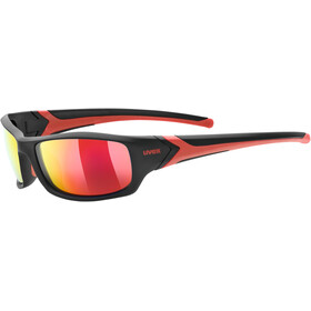 UVEX Sportstyle 211 Pola Sportglasses black matt red/mirror red